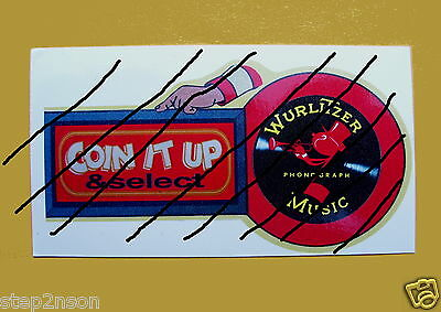 WurliTzer 1940,s Coin it up Jukebox Machine Water Release Decal + No Slugs cheap