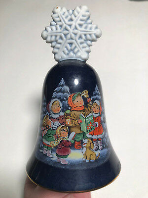 Avon 1987 Christmas Tree Snowflake Bell Porcelain Ornament