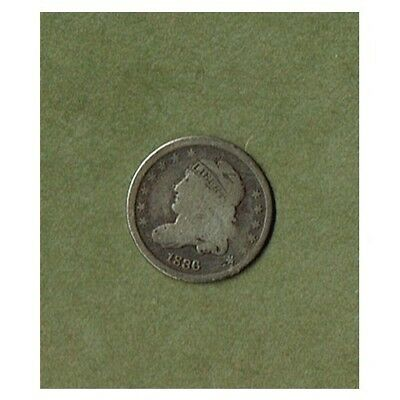 1836 Capped Bust Half Dime Silver 5-Cents (GOOD)