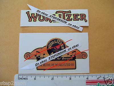 3 of Early Wurlitzer Jukebox Water Release Decals + card Juke Box Vending Arcade
