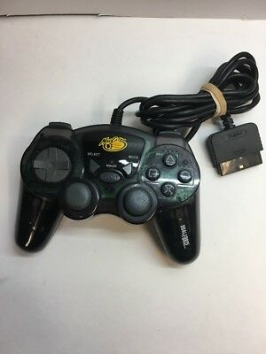 Mad Catz Dual Force 8016 Controller for PS2 Good Condition Wired Black USED
