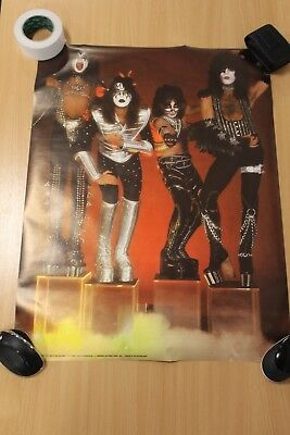 Kiss Poster,  Four Members, On Stands.