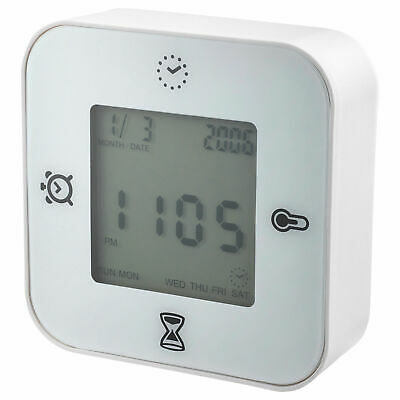 IKEA KLOCKIS 4 Functions Alarm, Clock, Thermometer, Timer Kitchen Bed cooking