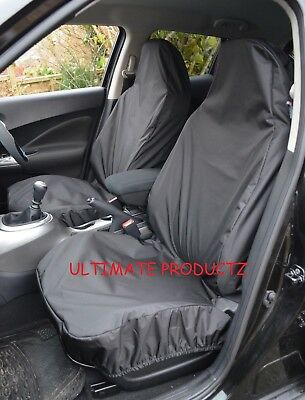For Mini Cooper S 02-06 Heavy Duty Waterproof Black Car Seat Covers 1+1
