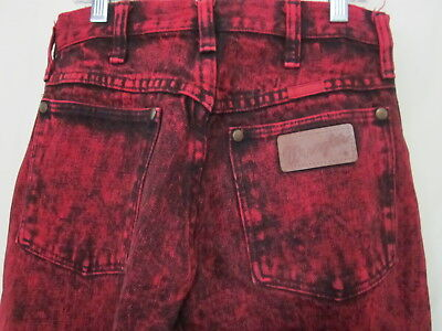 Vintage 80s Acid Wash Red Wrangler Women's Jeans Made in USA Sz 9 L32 14MWZHR