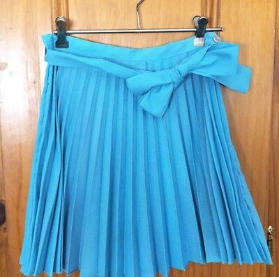Vintage 1960s Crepe Pleated Mini Skirt
