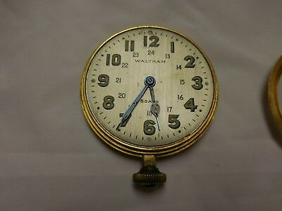 1925 Waltham Inverted 8 Day clock with 12 and 24 hour numbers glow in the dark