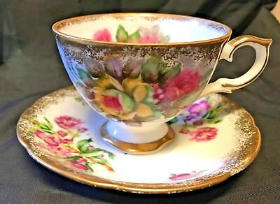 Napco China Teacup Cup and Saucer