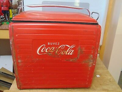 vintage  coca cola   ice chest cooler  /# 5409