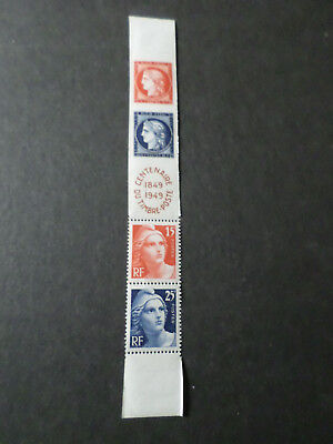 FRANCE 1949, BANDE timbres 833A, CENTENAIRE, neuf**, VF MNH STAMP