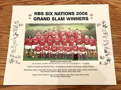 RBS Nations 2008 Signed Photograph