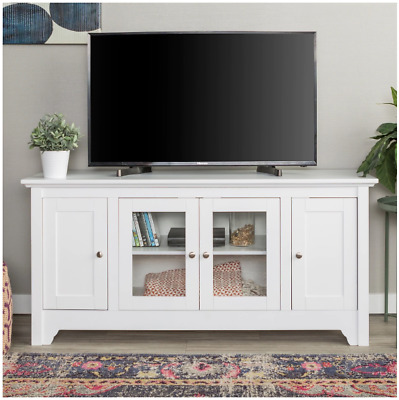 Tv Stand Modern Media Center Wood Furniture Console Table Storage Cabinet White
