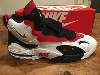 NIKE AIR MAX Speed Turf White Gold Red 49ers 525225 101 Deion Sanders Size 11 US