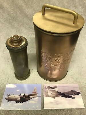 Rare Old Coast Guard COSTON Red Flare Distress Signal Canister Military  Navy