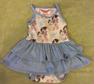 Little Wings Baby Girl Skirted One Piece Horse Print Size 6 Months