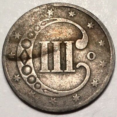 1851-O 3C Three Cent Silver