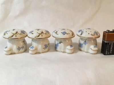 Limoges Haviland Rare Montmery Forget Me Nots Spice Shakers -2  #5308