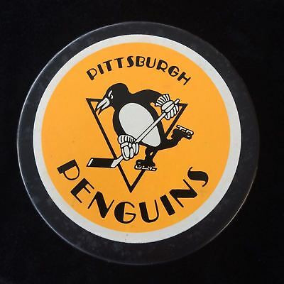PITTSBURGH PENGUINS Official NHL Hockey Puck Vintage 1989 - 1992 John Ziegler