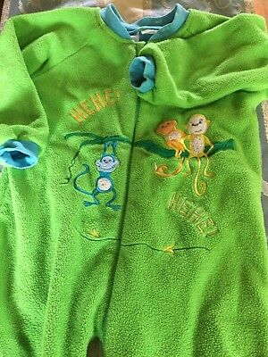 snugtime size 3 boys sleep suit fully lined green
