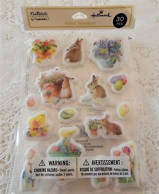 Hallmark Marjolein Bastin Puffy Stickers Easter Spring Bunny Egg Chick Nature