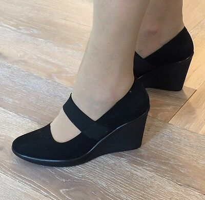 Filippo Raphael Black Shoes, Size 40, Made in Italy 🇮🇹, Wedges