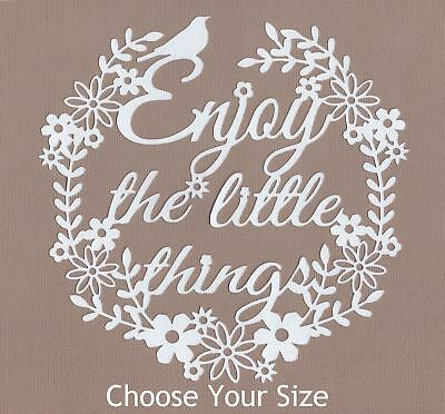 Scrapbooking Die Cuts - * ENJOY THE LITTLE THINGS * Colours A to K