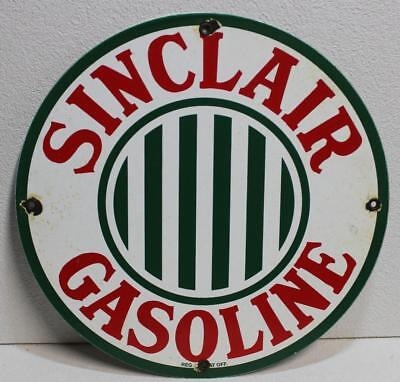 Porcelain Pump Plate Sinclair Gasoline Oil Gas Station Advertising Sign Lubester