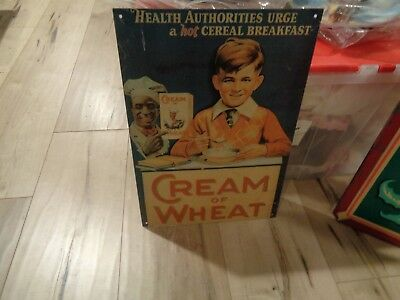 Vintage Style Cream of Wheat metal sign