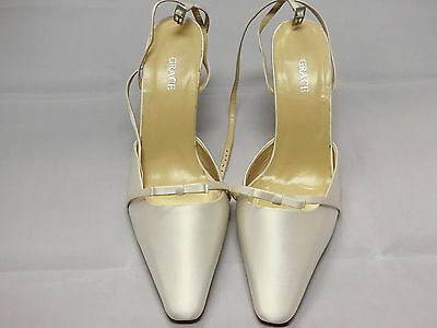 Grace White Satin Bridal Shoes Woman Size 11B