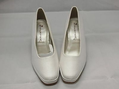 Coloriffics White Satin Bridal Shoes Woman Size 5M