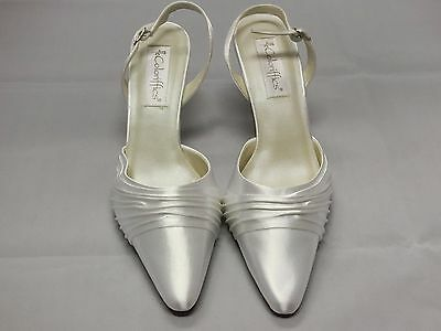 Coloriffics Godiva White Satin Bridal Shoes Woman Size 8.5W