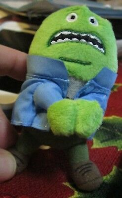 """Mucinex Mr Mucus character 3 1/2"""" clip on plush doll pharmaceutical promo NEW"""