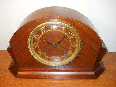 1948 Seth Thomas Art Deco 8 Day Time+Chime Mantel Clock,  Serviced, Very Nice!