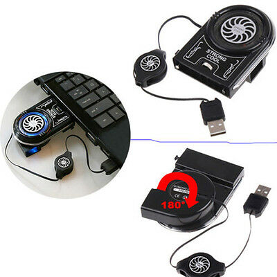 Vacuum LED USB Cooler Air Extracting Cooling Pad Fan for Notebook Laptop B