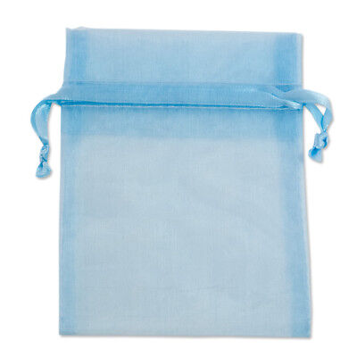 Organza Bag 9x12cm - Pale Blue Pack 100