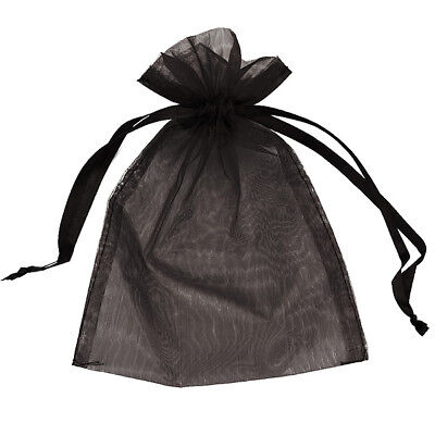 Organza Bag 9x12cm - Black Pack 200