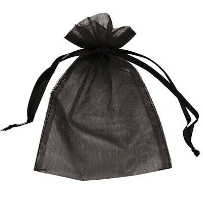 Organza Bag 9x12cm - Black Pack 100