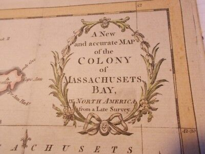 Universal magazine  A new and accurate map colony of Massachusetts bay bay 1781