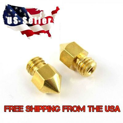 2 x Makerbot Replacement MK8 0.4mm Nozzle 3D Printer HotEnd or Reprap DIY