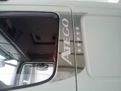 Mercedes Atego Door PILLAR Super Polished Stainless Steel 4 Pcs