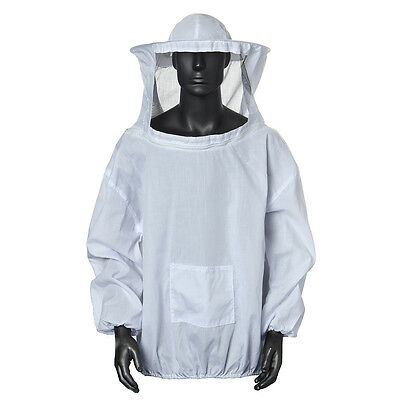 PRO Large Beekeeping Bee Keeping Suit Jacket Pull Over Smock with Veil uutt