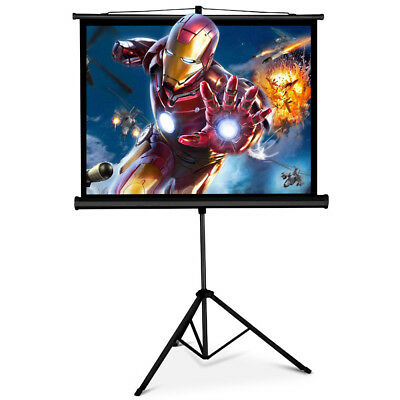 """4:3 Screen Tripod  Portable 50"""" Projector Pull-up Projector with Stand Black"""