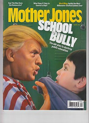 Donald Trump Mother Jones Magazine April 2017 No Label School Bully