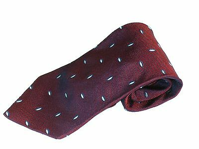 Mens Silk Neck Tie Countess Mara Hand Made In Italy Red Blue And Silver Flecks