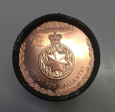 NEW 2017 Australian 25c MEDAL FOR GALLANTRY Cotton & Co COIN Roll - RARE