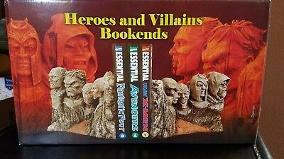 MARVEL VILLAINS & HEROES BOOKENDS Diamond Select Statue Book-ends VERY RARE NEW
