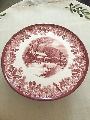 Spode Winter's Scene - Footed Cake Stand - NEW AND BOXED!