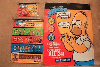 Set of 3 The Simpsons Promotional Posters