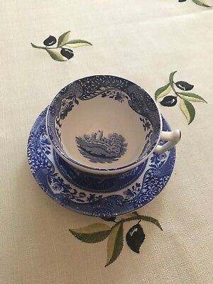 Spode Italian Large Breakfast Cup Blue and White