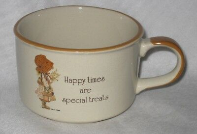 Holly Hobbie Country Living Stoneware Soup Mug - Happy times are special treats